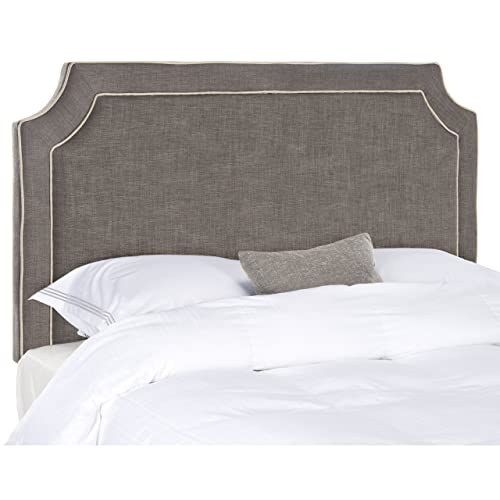 Safavieh Dane Charcoal Light Grey Upholstered Headboard King