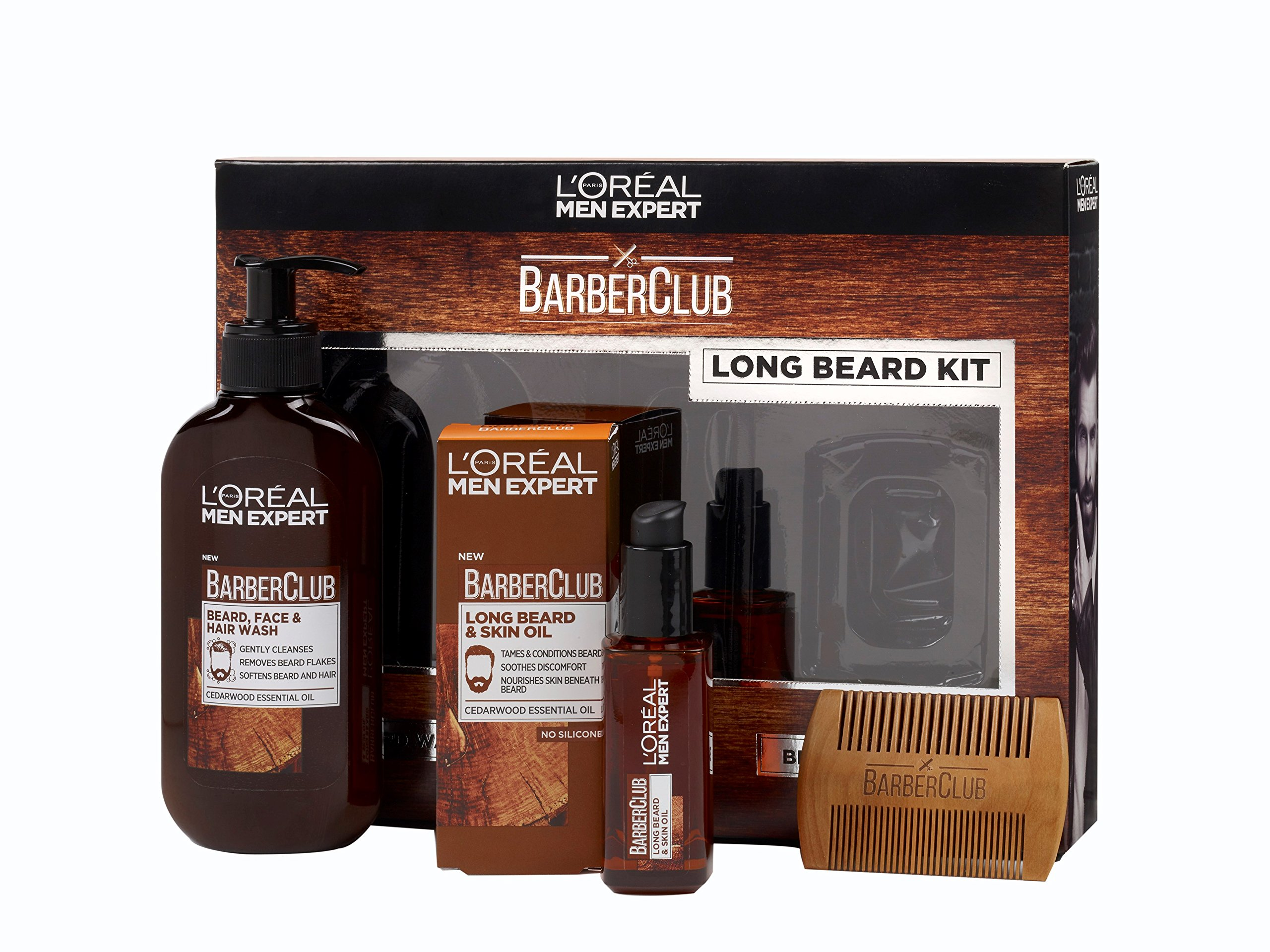 L'Oreal Men Expert Long Hair Barberclub Collection 3-Piece Gift Set for Him