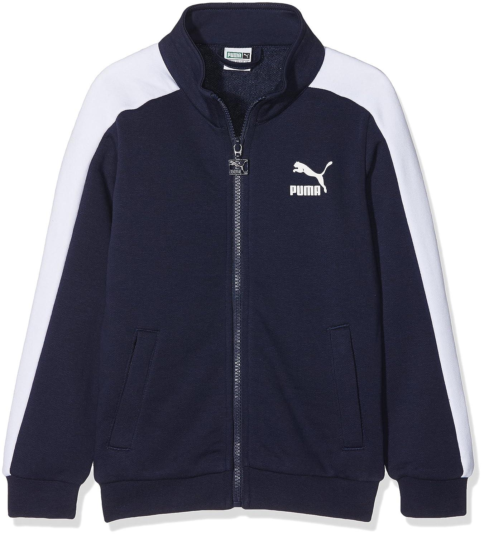 Puma 593722 06_176 Camiseta, niños, Negro (Brilliant Blue)