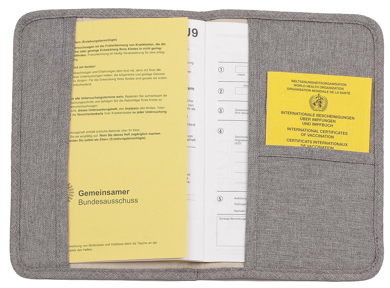 Okiedog DOCs Prot/ège-carnet de maternit/é gris carnet de sant/é et carnet de vaccination Urban