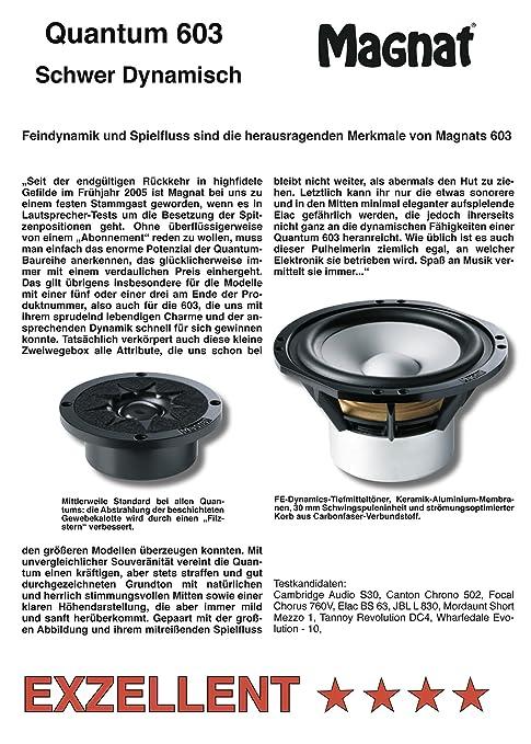Magnat Quantum 603 2-Wege Bassreflex-Regallautsprecher (180/300
