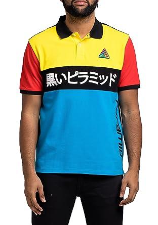 50f600eb BLACK PYRAMID BP Geometric Polo Shirt - Blue - XL: Amazon.co.uk: Clothing