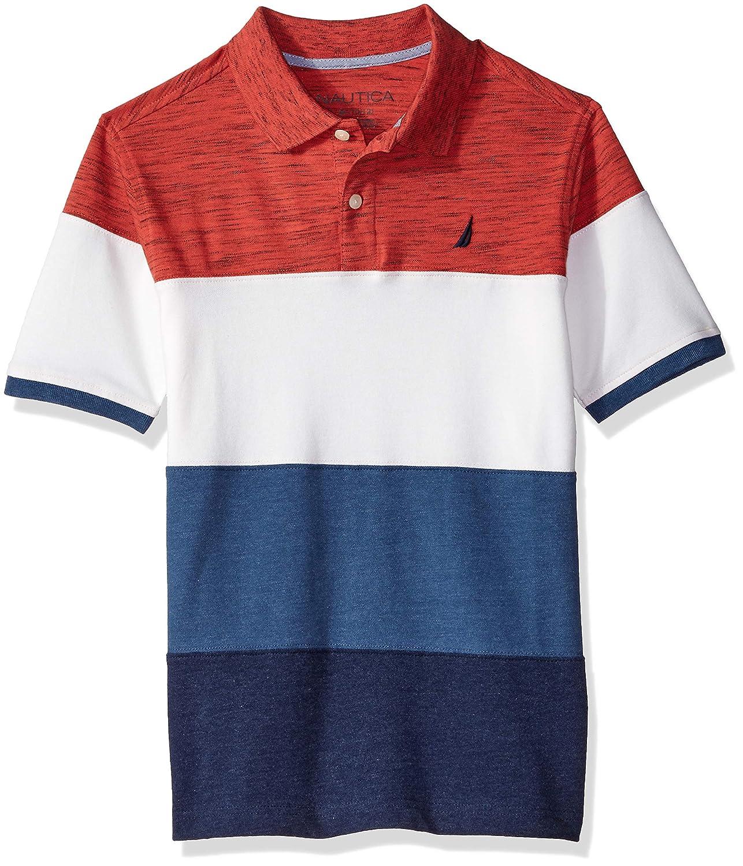 Nautica Little Boys' Short Sleeve Ombre Stripe Polo 81637Q