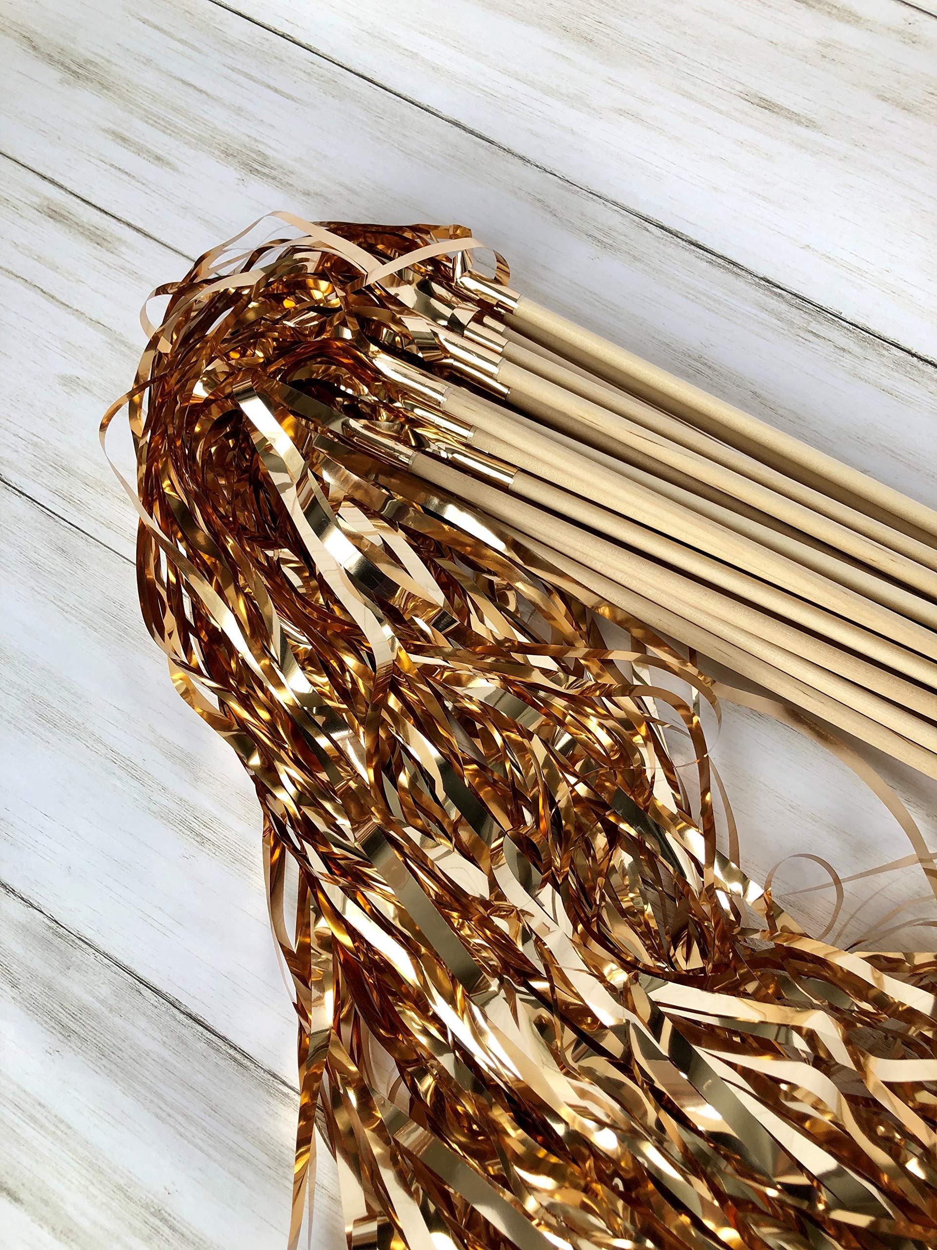 25pcs Grand Exits Tinsel Wedding Wands