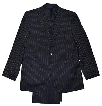 Ralph Lauren Purple Label Mens Dress Suit Black Stripe Cashmere ...