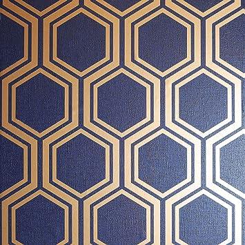 Arthouse Luxe Hexagon Silver Wallpaper 910206
