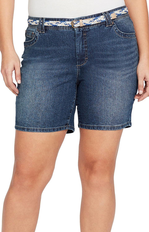 Bandolino Womens Plus-Size Amalia Belted Short