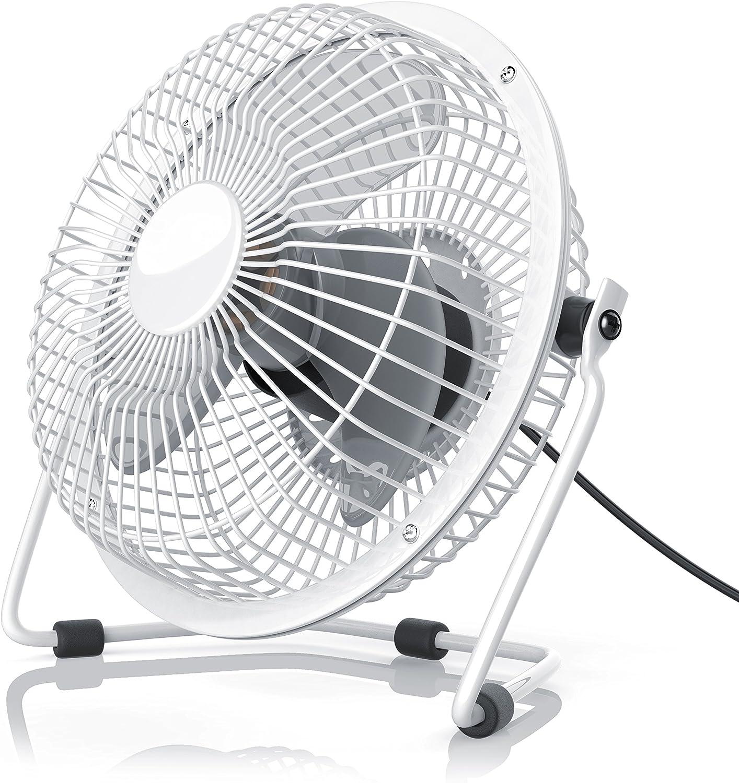 CSL - USB Ventilador/Fan | Ventilador de Mesa | Carcasa de Metal/aspas de rotacion en plastico | PC/portátil | en Blanco: Amazon.es: Electrónica