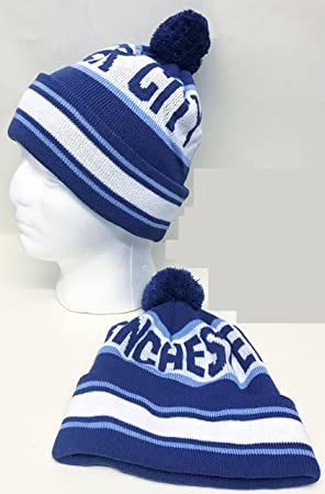 ae1d6231fe9 Manchester City Bobble Pom Pom Hat  Amazon.co.uk  Sports   Outdoors