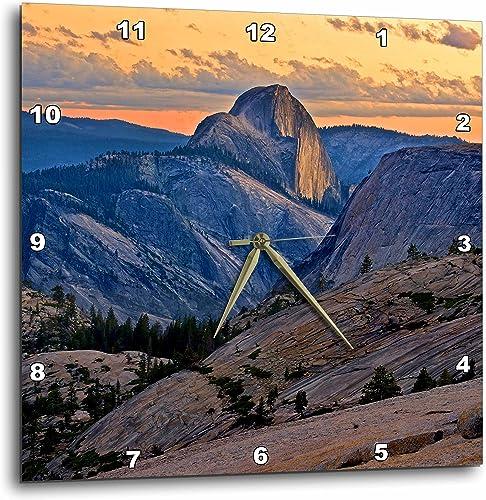 3dRose DPP_88612_2 California, Yosemite National Park. Half Dome – US05 RJA0083 – Rebecca Jackrel – Wall Clock, 13 by 13-Inch
