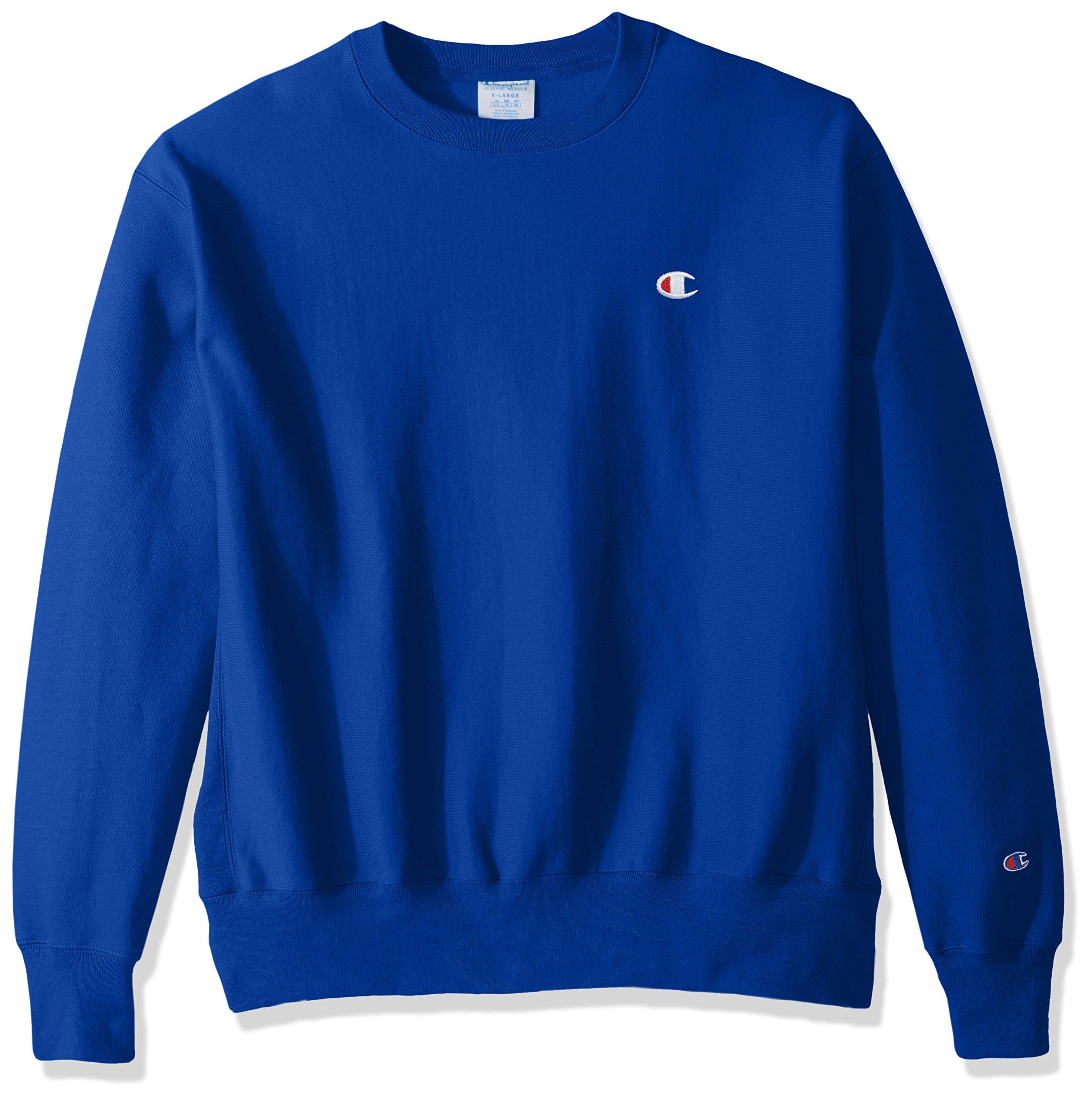 Champion LIFE Men's Reverse Weave Sweatshirt,Surf The Web/Left Chest ''C'' Logo,X SMALL