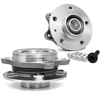 [2-Pack/Pair] FRONT Wheel Hub & Bearing Assembly, Premium Pre-Assembled 513301 Hub for Audi A Series, S Series, and Q5, also fit on REAR for Quattro models. [See Item Description for details]: Automotive
