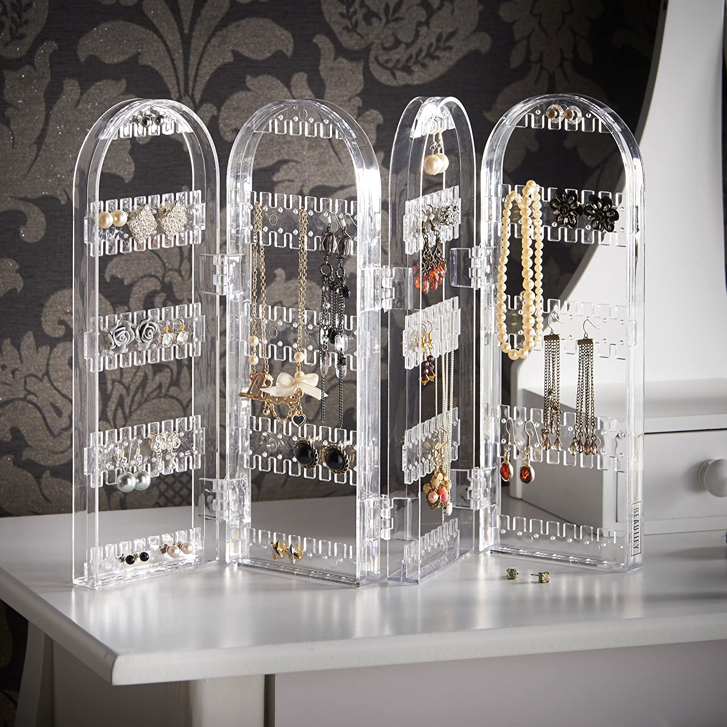 Jewelry Hanger Foldable Acrylic Earring Organizer Holder