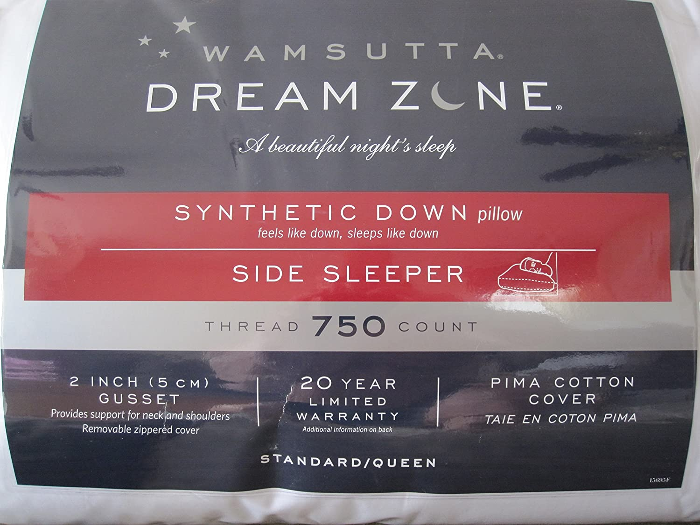 Amazon Com Wamsutta Dream Zone Synthetic Down Side Sleeper Pillow Home Kitchen
