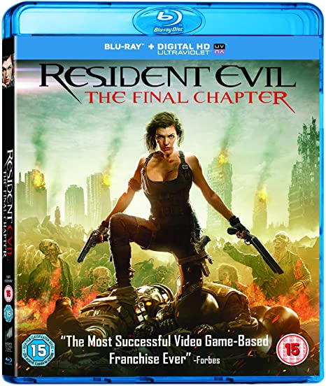 Resident Evil The Final Chapter Blu Ray 2017 Region Free Amazon