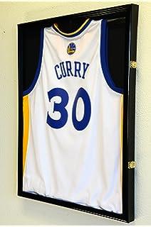 basketballl jersey frame display case cabinet w 98 uv protection black finished