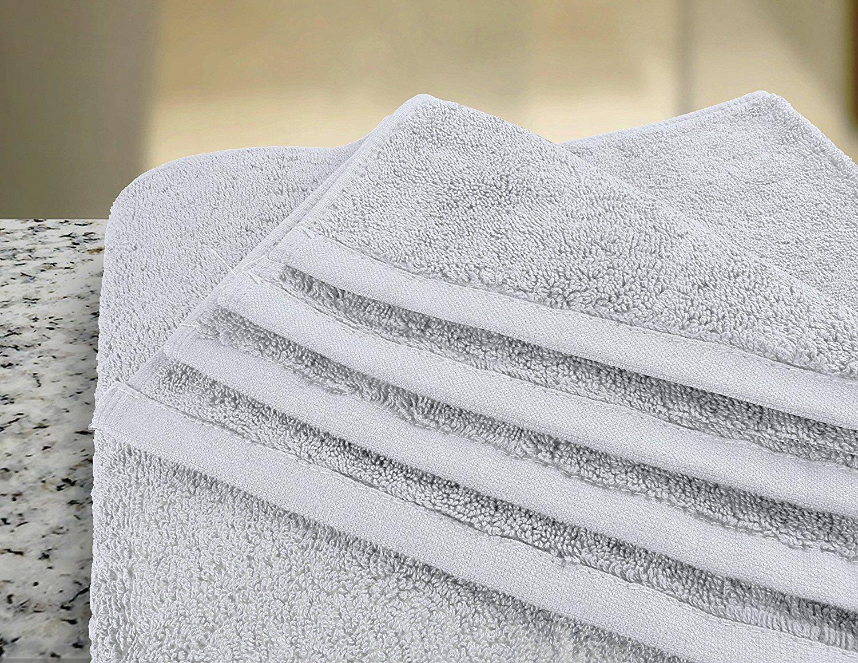 Hashcart Suave Absorbente Toalla de algodón Hojas/Hojas de baño/baño toallitas/Blanco algodón Toalla de baño Conjuntos para baño, Playa, SPA, Piscina, ...