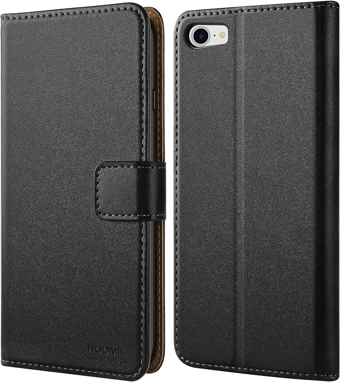 HOOMIL Coque iPhone Se 2020 Housse en Cuir PU Premium Portefeuille Etui de Protection pour Apple iPhone 7//8//SE 2020 Case Bleu Coque iPhone 8 Coque iPhone 7