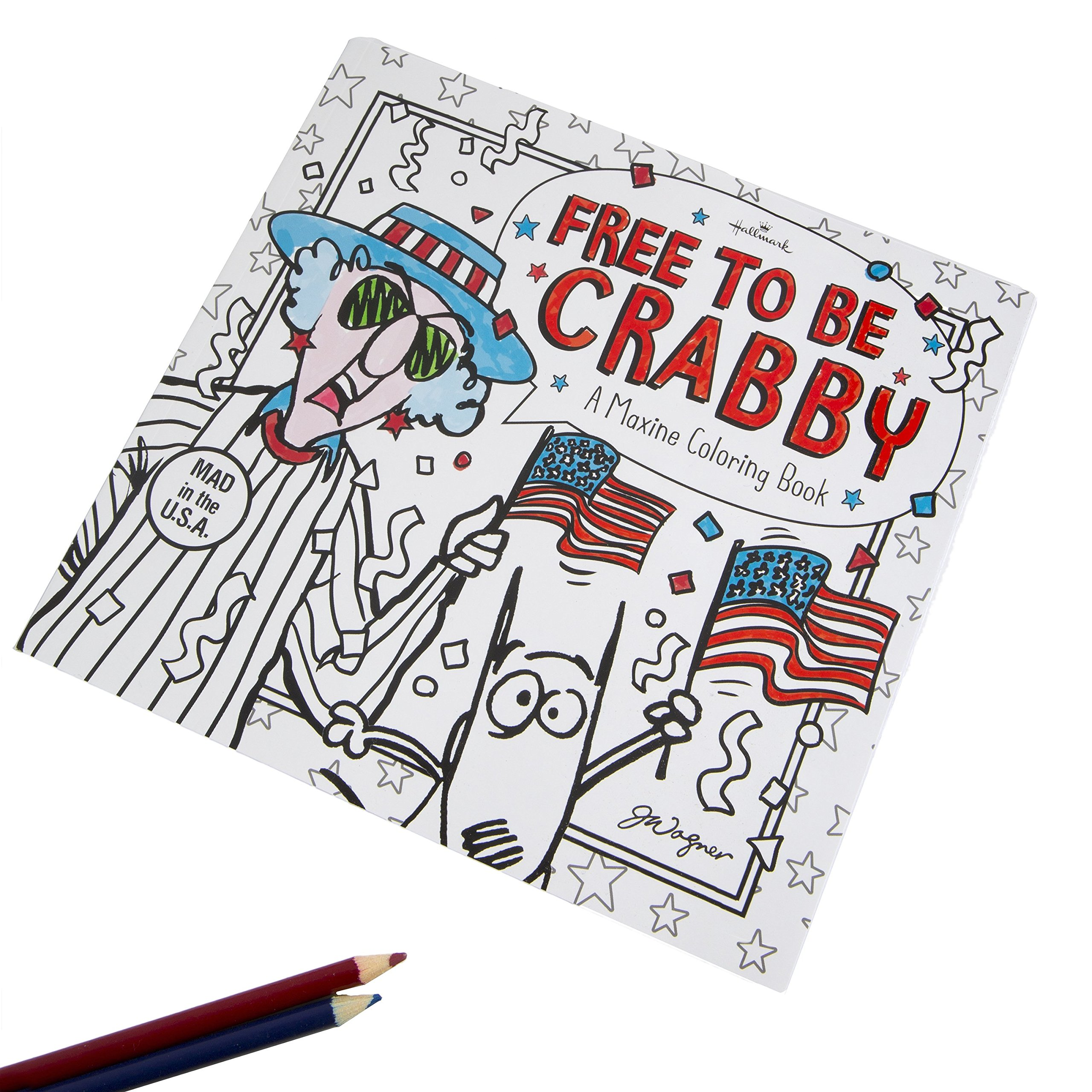 Maxine Free To Be Crabby Coloring Book For Adults From The Hallmark Creative Collection