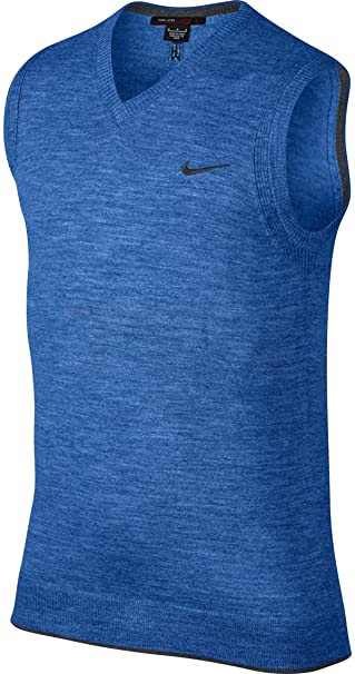 861e4c6d877d Nike Men s Tiger Woods Wool Golf Sweater Vest - Lt Game Royal Heather  (Large)