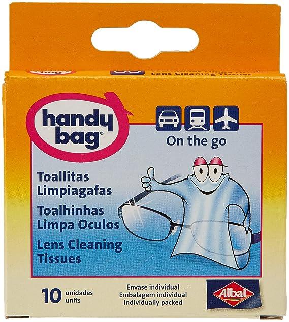 Handy Bag - Toallitas limpiagafas - Envase individual - 10 unidades - [paquete de 3]: Amazon.es: Salud y cuidado personal