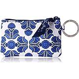 Vera Bradley Zip ID Case Pouch, Cobalt Tile, One Size