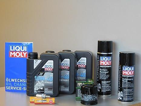 Mantenimiento Set Kawasaki Ninja Z 300 aceite de aceite Bujía Cadena Service Inspección