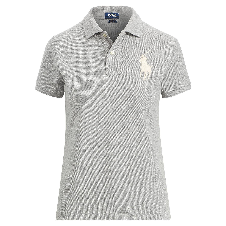 c2e3743745e00 Ralph Lauren Women s Big Pony Tri-Color Mesh Polo Shirt at Amazon Women s  Clothing store