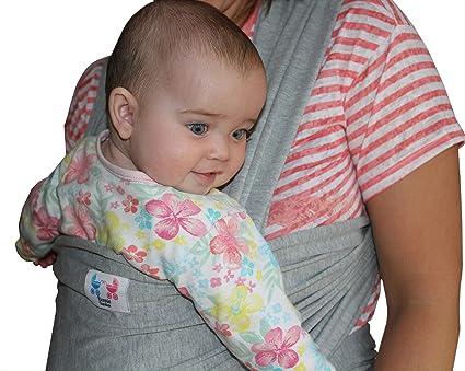 Black Baby Sling Stretchy Wrap soft Cotton Premium Breastfeeding Toddler Holding