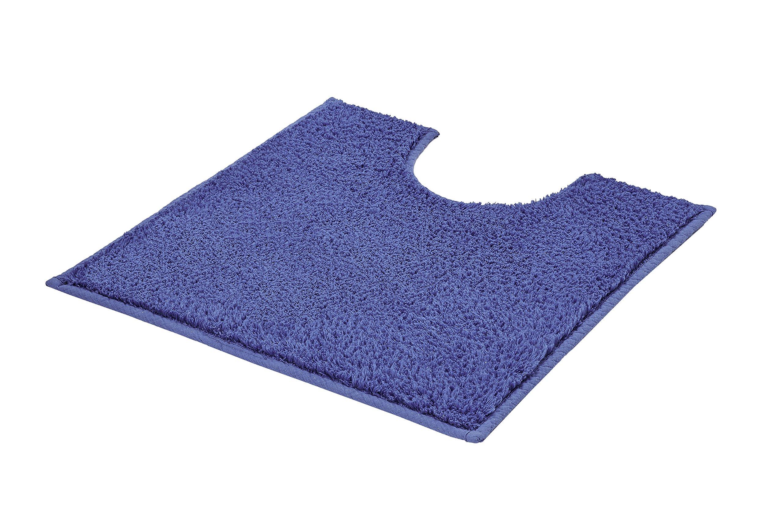 Kleine Wolke Kansas Bathroom Mat Cotton 6 Colours Available White 50 x 50 cm WC-Vorleger mit Ausschnitt Blue, Multicolor