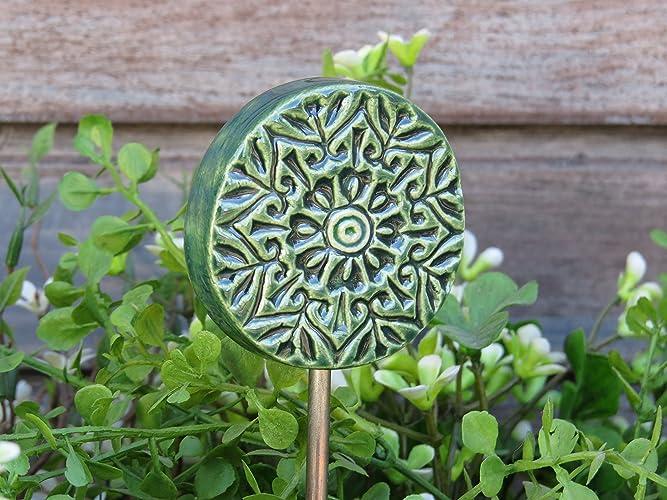 Uberlegen Garten Und Keramik : Keramik Gartenstecker Beetstecker Garten Dekoration  Handgemacht Grün