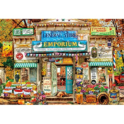 Buffalo Games - Aimee Stewart - Brown's General Store - 2000 Piece Jigsaw Puzzle: Toys & Games