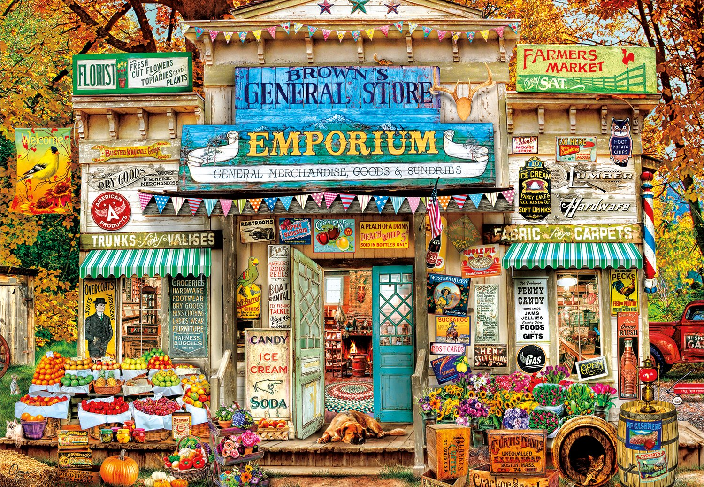 Buffalo Games - Aimee Stewart - Brown's General Store - 2000 Piece Jigsaw Puzzle