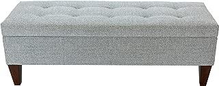 product image for MJL Furniture Designs Brooke Bedroom Storage Bench, Stone