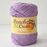 Peaches & Creme (Cream) Cotton Yarn Fresh Lilac 2.5 oz. (Purple)