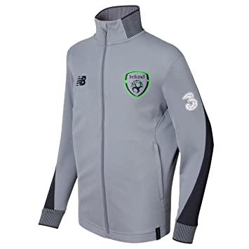 9010268d041 New Balance Boys' Official FAI Merchandise Ireland Elite Training  Presentation Jacket, Gun Metal,