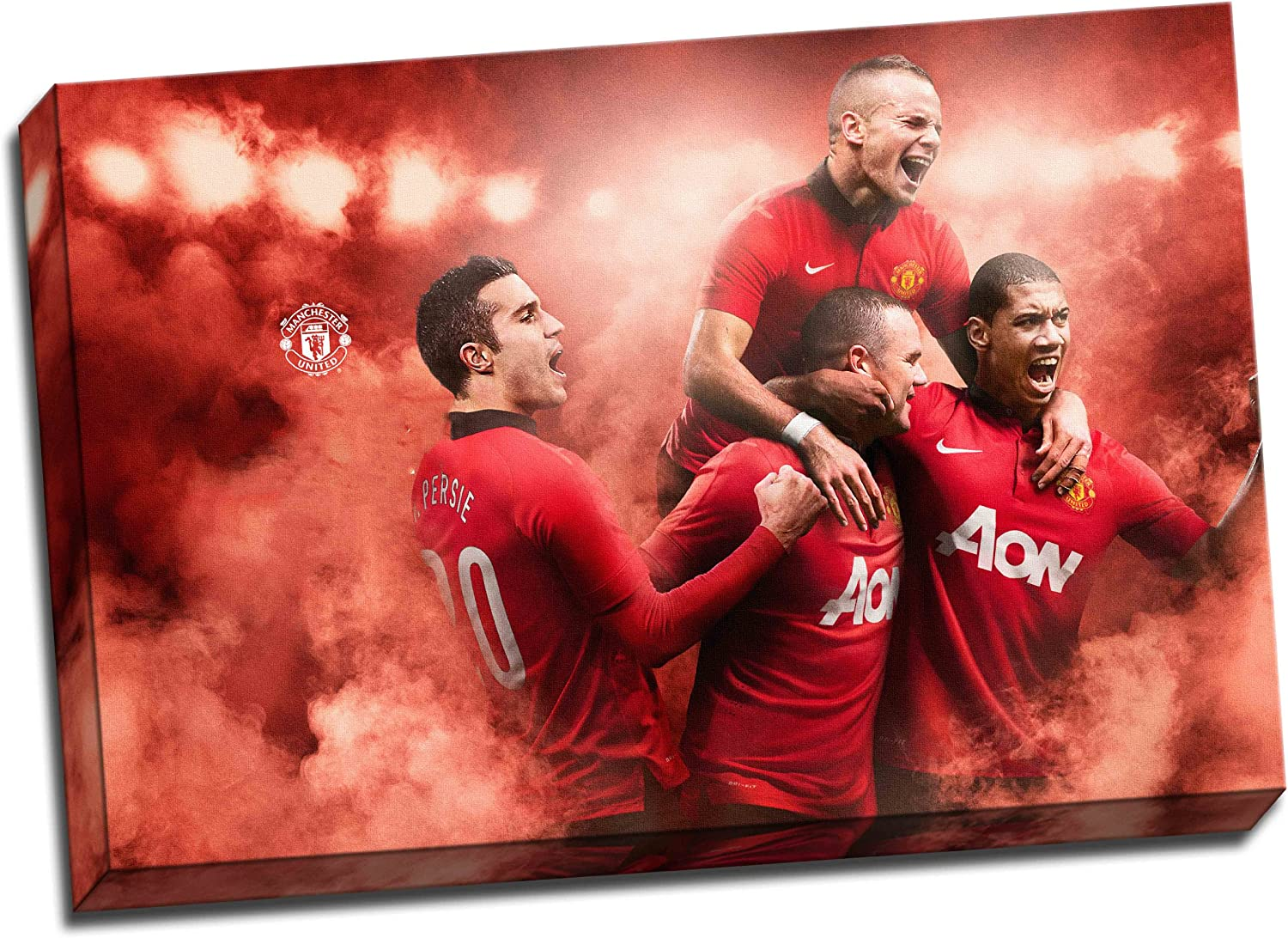 Amazon Com Panther Print Manchester United Canvas Art Print Poster 30 X 20 Inches 76 2 X 50 8 Cm Posters Prints