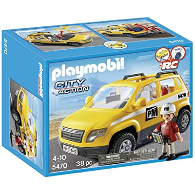 PLAYMOBIL Site Supervisor's Vehicle: Toys & Games