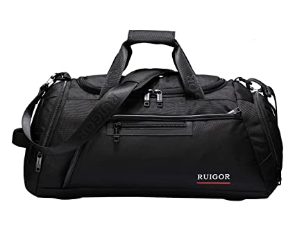 11128c345b5538 Image Unavailable. Image not available for. Color: Sport Gym Duffel Bag  with Sweat Control Shoe Compartment ...