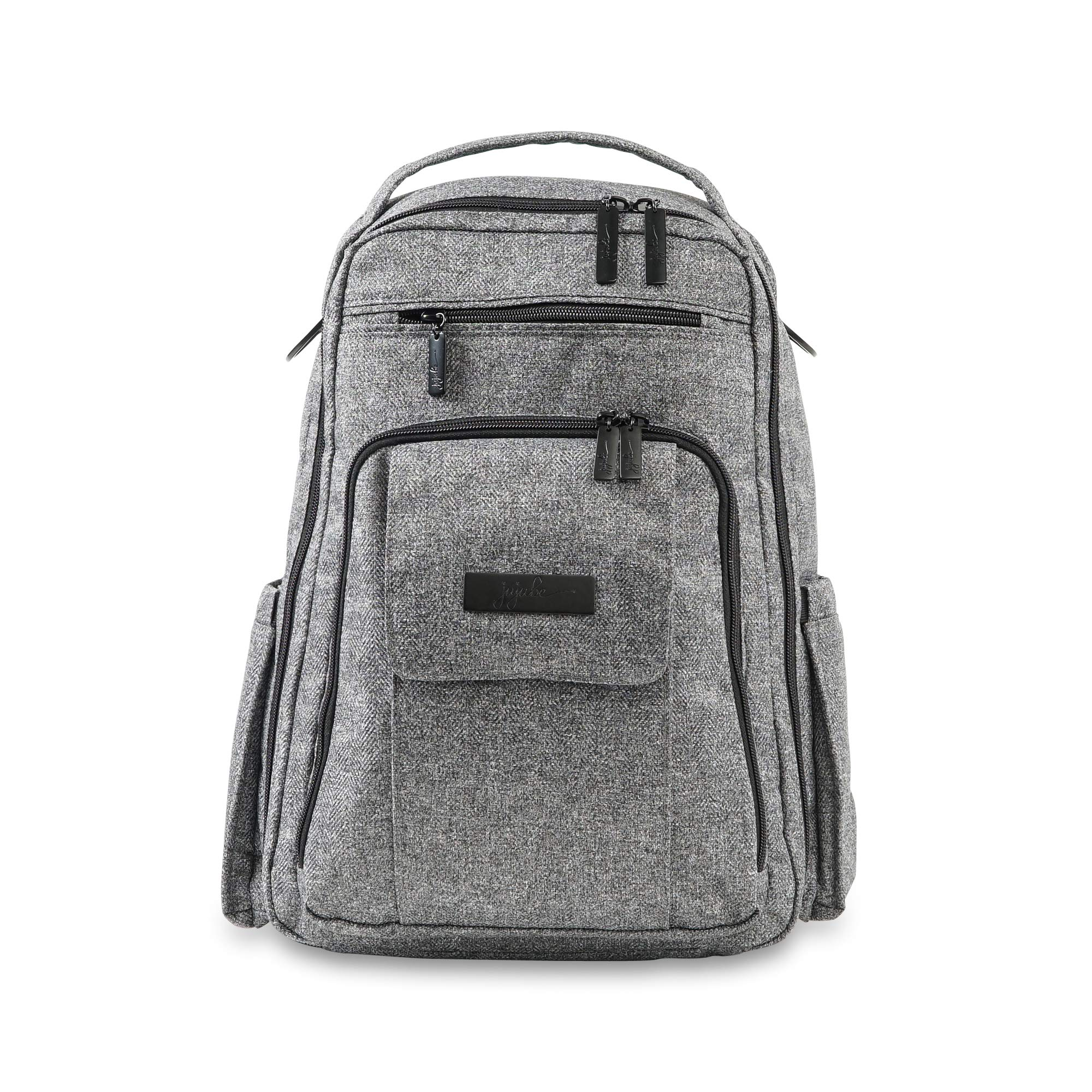 JuJuBe Be Right Back Multi-Funtional Structured Backpack/Diaper Bag Onyx Collection, Gray Matter