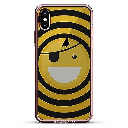 Amazon.com: Carcasa de lujo para iPhone X con borde de oro ...