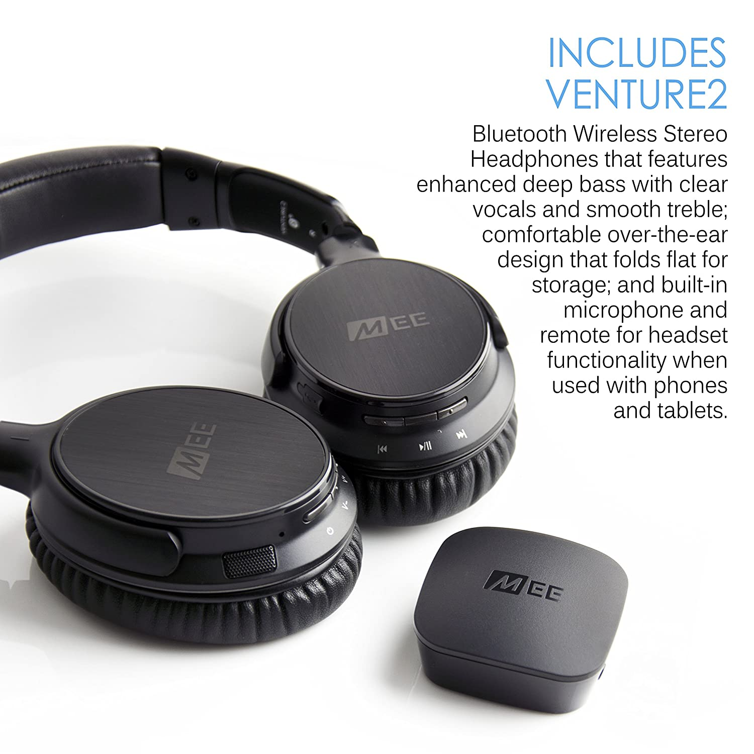 4f4dac2cc32 MEE audio Connect Bluetooth Wireless Headphone System for TV - Includes Bluetooth  Wireless Audio Transmitter and Headphones: Amazon.ca: Cell Phones & ...