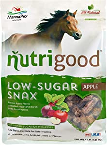 Nutrigood Low-Sugar Snax | Apple Flavor Horse Treats | 4 Pounds