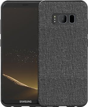 Funda Galaxy S8 - bb face Carcasa de Tela Lienzo Textil Funda ...