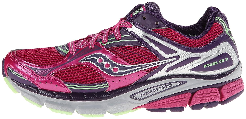 23db9884 Saucony Women's Stabil CS3 Running Shoe,Berry/Green,5 W US: Amazon.com.au:  Fashion