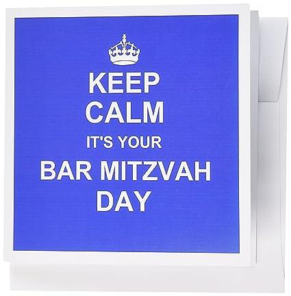 Amazon 3dRose Keep Calm Its Your Bar Mitzvah Day