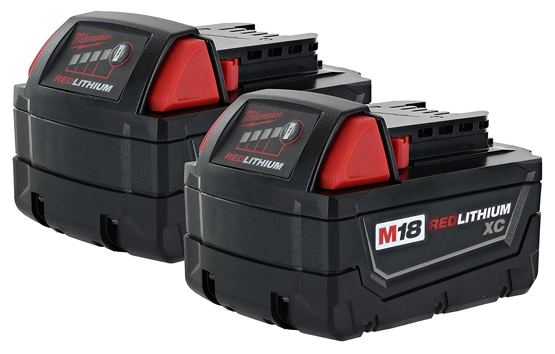 Milwaukee 48-11-1828 M18 XC rojo litio 18 V Li-ion batería inalámbico (, 2 unidades): Amazon.es: Bricolaje y herramientas