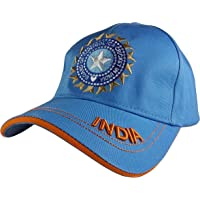 Indian Cricket Cap Military for Men in Blue & Army Cotton Caps   ODI Test Ipl Indian Cricket Team Cap Free Size Adjustable Army Caps