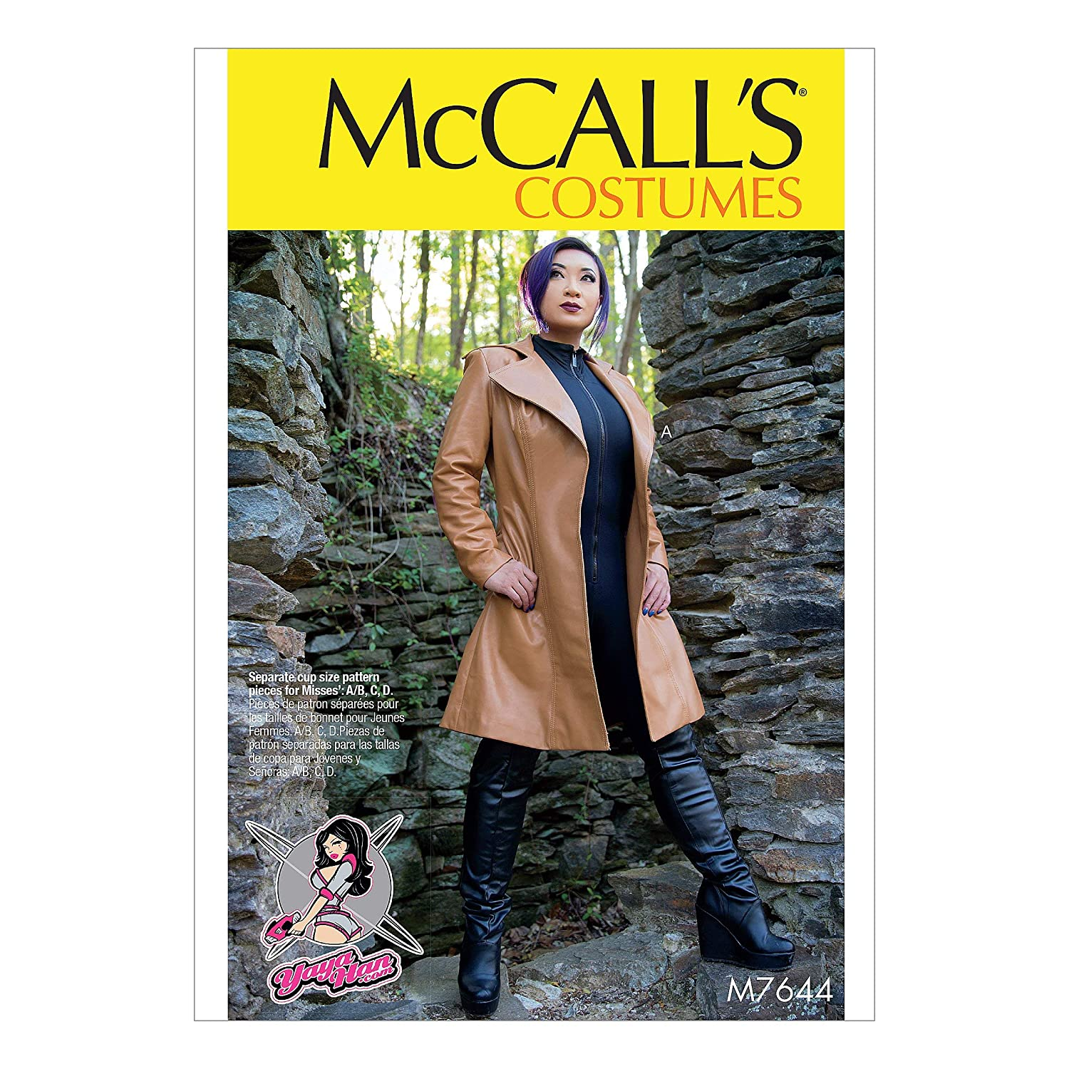 Amazon.com: McCalls Patterns M7644A50 Leather Jacket Cosplay Costume Sewing Pattern for Women by Yaya Han, Sizes 6-14: Arts, Crafts & Sewing