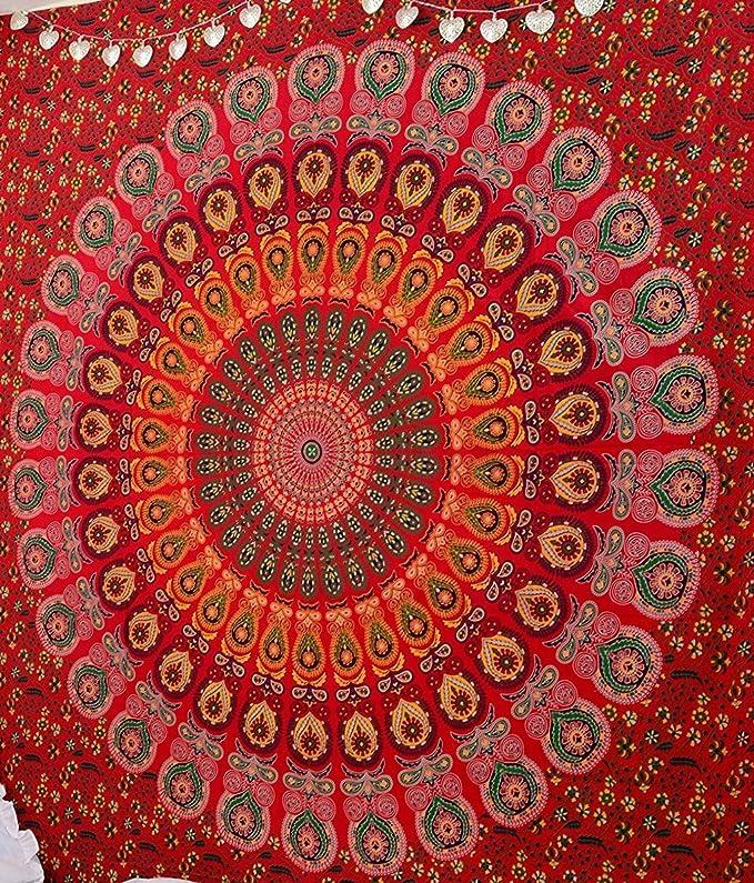 jaipurhandicraft IndianTree of Life/& Bird Bohemian Wall Hanging Tapestry Decor Bedspread Bedsheet